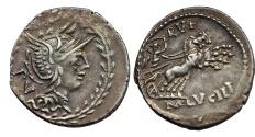 Ancient Coins - ROME REPUBLIC  M. Lucilius Rufus. AR Denarius, 101 BC.