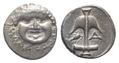 Ancient Coins - Thrace, Apollonia Pontika, late 5th-4th centuries BC. AR Drachm. Facing gorgoneion