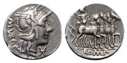 Ancient Coins - M. Vargunteius, Rome, 130 BC. AR Denarius