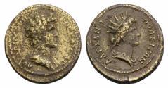 Ancient Coins - Marcus Aurelius (Caesar, 139-161). Thrace, Hadrianopolis. Æ 25mm R/ HELIOS
