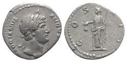 Ancient Coins - Hadrian (117-138). AR Denarius. Rome, c. 124-8.  R/ Libertas