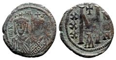 Ancient Coins - Michael II and Theophilus (821-829). Æ 40 Nummi - Constantinople