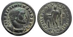 Ancient Coins - Galerius (Caesar, 293-305). Æ Follis - Lugdunum