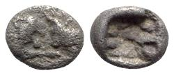 Ancient Coins - Kings of Lydia, Kroisos (c. 564/53-550/39 BC). AR 1/24 Stater