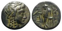Ancient Coins - Seleukid Kings, Antiochos III (222-187 BC). Æ - Sardes