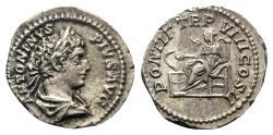 Ancient Coins - Caracalla (198-217). AR Denarius - Rome - R/ Salus