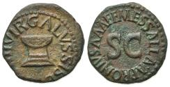 Ancient Coins - Augustus (27 BC-14 AD). Æ Quadrans. Rome, Apronius, Galus, Messalla, and Sisena, moneyers, 5 BC. Garlanded altar