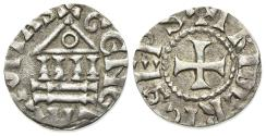World Coins - Switzerland, Bishops of Geneva. Friederich (1031-1073). AR Denier RARE