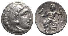 Ancient Coins - Kings of Macedon, Philip III Arrhidaios (323-317 BC). AR Drachm. In the name of Alexander III. Kolophon, c. 322-319 BC.