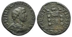 Ancient Coins - Philip I (244-249). Pisidia, Antioch. Æ 25mm. R/ Aquila between two signa.