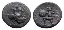 Ancient Coins - Thessaly, Pelinna, c. 400-375 BC. Æ Chalkous, Horseman.
