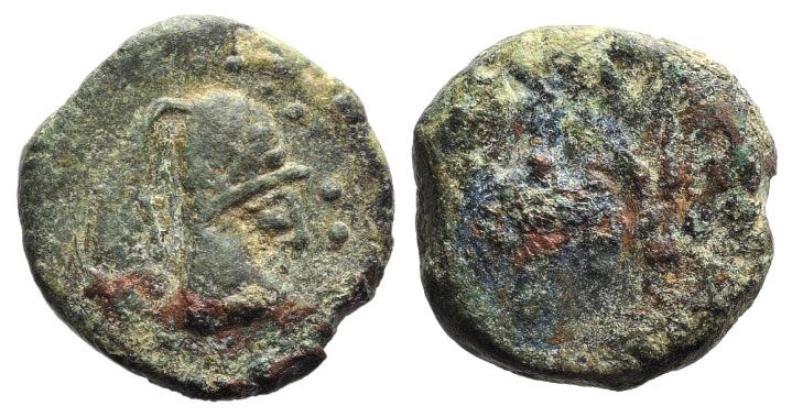 Ancient Coins - Mauretania, Volubilis?, c. 1st century BC. AE 16mm