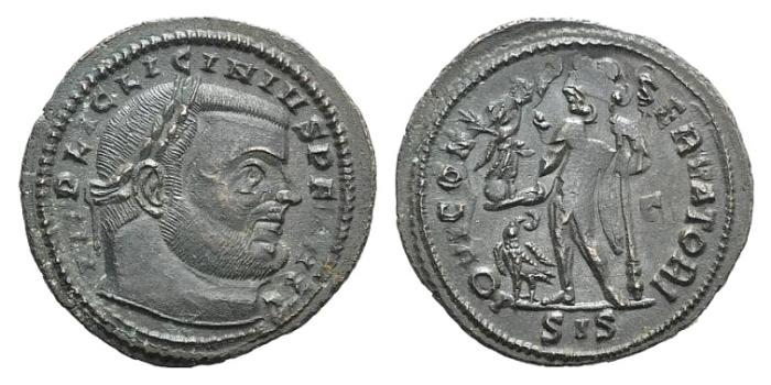 Ancient Coins - LICINIUS I. 308-324 AD. Æ Follis. Siscia mint. Struck circa 313-315 AD. R/ Jupiter