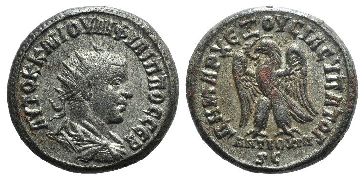 Ancient Coins - Philip II (247-249). Antioch. BI Tetradrachm, AD 248.