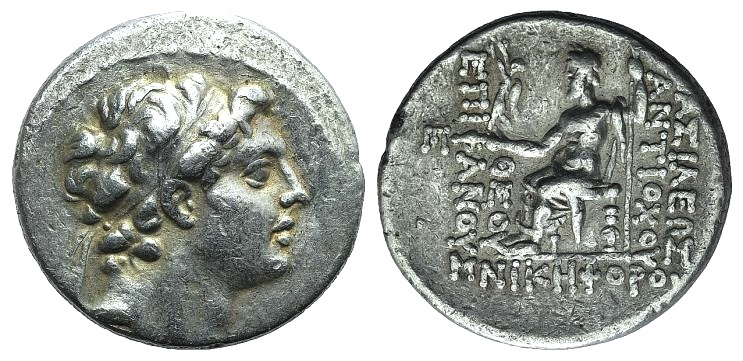 Ancient Coins - Seleukid Kings, Antiochos IV (175-164 BC). AR Tetradrachm. Antioch, c. 168-4.