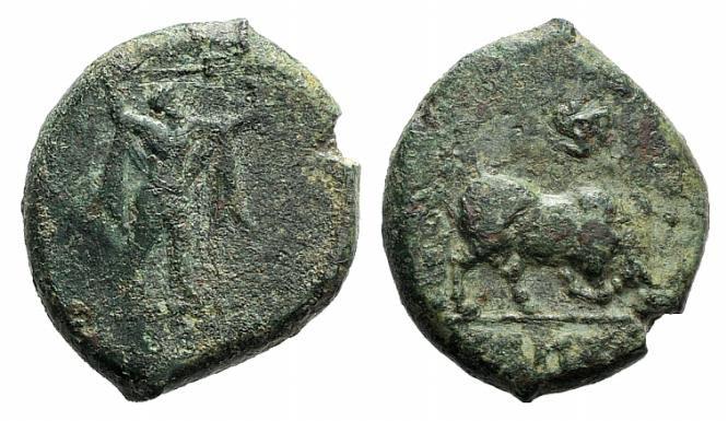 Ancient Coins - Lucania, Poseidonia, c. 400 BC. AE 19mm