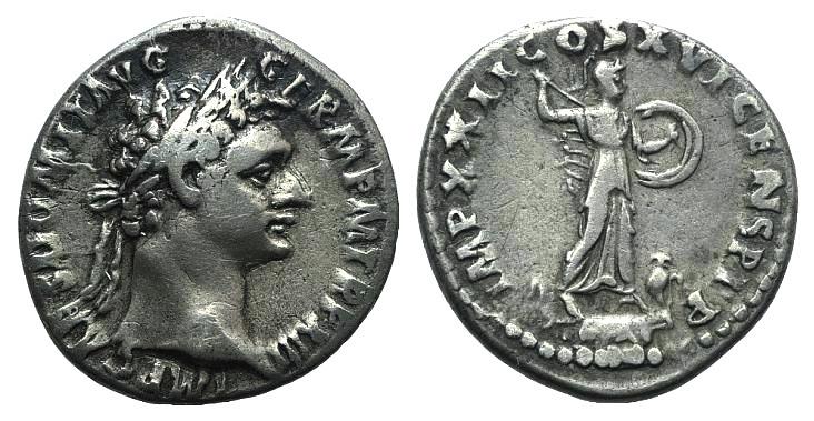 Ancient Coins - Domitian (81-96). AR Denarius. Rome, 93-94. R/ Minerva