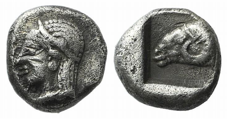 Ancient Coins - Troas, Kebren, c. 5th centuries BC. AR Diobol