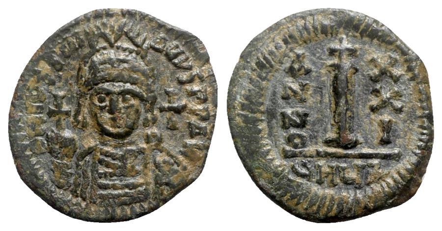 Ancient Coins - Justinian I (527-565). Æ 10 Nummi - Antioch, year 21