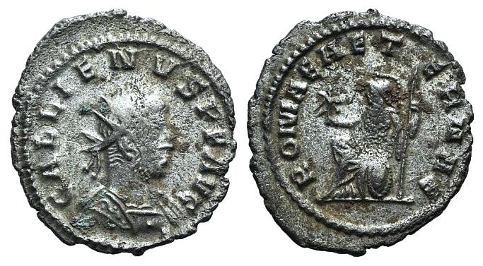 Ancient Coins - Gallienus. AD 253-268. Antoninianus. Antioch mint. 9th emission, circa AD 262-264. R/ ROMA AETERNAE