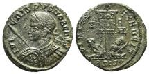 Ancient Coins - Crispus (Caesar, 316-326). Æ Follis. Siscia, 320.