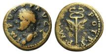 Ancient Coins - Vespasian (69-79), Seleucis and Pieria, Antioch. Æ Semis. R/ Winged caduceus.