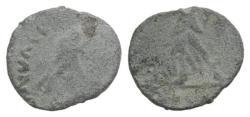 Ancient Coins - Uncertain Emperor. Roman PB Tessera, c. 4th-5th century AD (10mm)  R/ Victory
