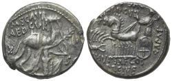 Ancient Coins - ROME REPUBLIC M. Aemilius Scaurus and Pub. Plautius Hypsaeus, Rome, 58 BC. AR Denarius