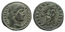 Ancient Coins - Constantine I (307/310-337). Æ Follis - Constantinople - R/ Roma seated