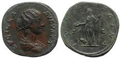Ancient Coins - Lucilla (Augusta, 164-182). Æ Sestertius - Rome - R/ Juno