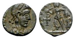 Ancient Coins - Valentinian II ? (375-392). Æ - R/ Victory
