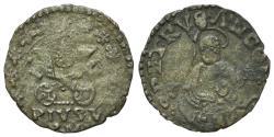 World Coins - Italy, PAPAL STATE. Ancona. Pio V (1566-1572). BI Quattrino