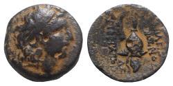 Ancient Coins - Seleukid Kings, Tryphon (c. 142-138 BC). Æ