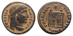 Ancient Coins - Constantine I (307/310-337). Æ Follis - Nicomedia - R/ Camp gate