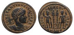 Ancient Coins - Constantine II (Caesar, 316-337). Æ Follis. Antioch, 330-333/35.