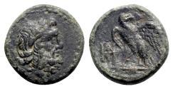 Ancient Coins - Kings of Galatia, Deiotaros (62-40 BC). Æ - Zeus / Eagle