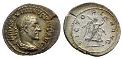 Ancient Coins - Maximinus I (235-238). AR Denarius - Rome - R/ Victory