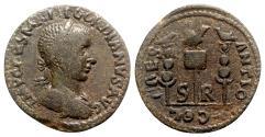 Ancient Coins - Gordian III (238-244). Pisidia, Antioch. Æ - R/ Aquila with signa