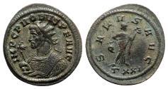 Ancient Coins - Probus (276-282). Radiate - Ticinum - R/ Salus