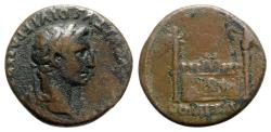 Ancient Coins - Augustus (27 BC-AD 14). Æ As - Lugdunum - R/ Altar of Lugdunum