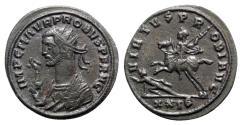 Ancient Coins - Probus (276-282). Radiate - Cyzicus - R/ Emperor on horseback