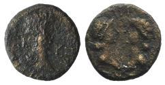 Ancient Coins - Britannicus with Octavia and Antonia (AD 41-55). Mysia, Cyzicus. Æ 11mm RARE