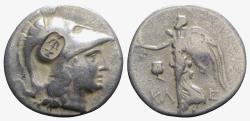 Ancient Coins - Pamphylia, Side, c. 183-175 BC. AR Tetradrachm. R/ NIKE