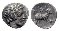 Ancient Coins - Troas, Neandria, 4th century BC. AR Obol, Apollo.