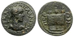 Ancient Coins - Gallienus (254-268). Pamphylia, Perge. Æ 10 Assaria - R/ Three prize crowns