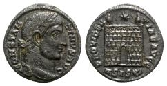 Ancient Coins - Constantine I (307/310-337). Æ Follis - Siscia - R/ Camp gate