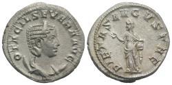 Ancient Coins - Otacilia Severa (Augusta, 244-249). AR Antoninianus. Rome, AD 249. R/ PIETAS