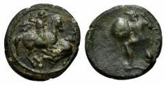 Ancient Coins - Thessaly, Pelinna, c. 400-375 BC. Æ Chalkous