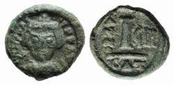 Ancient Coins - Heraclius (610-641). Æ 10 Nummi. Catania, year 9 (618/9).