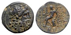 Ancient Coins - Seleukid Kings, Demetrios II (First reign, 146-138 BC). Æ (24mm, 12.80g, 12h). Antioch, 145-4 BC.